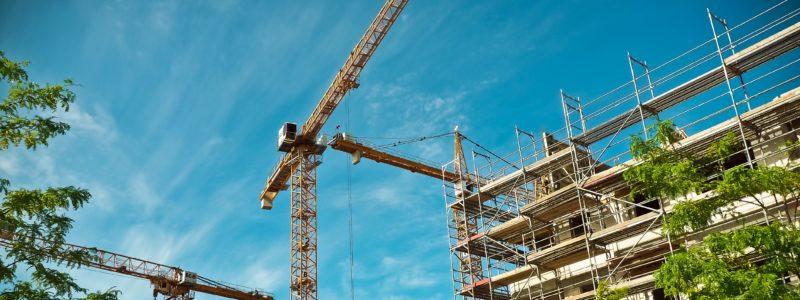 blue sky cranes and construction
